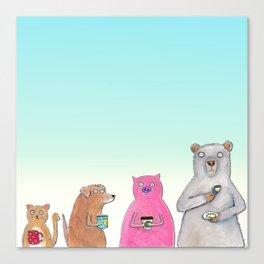 Coffee Squad  Canvas Print