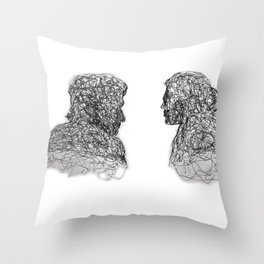 Your Father Would be Proud Line Art Throw Pillow