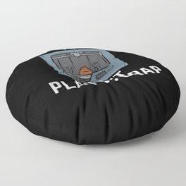I Print Plastic Crap Floor Pillow