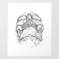 Carnibal / Ink Skull / Black / S Art Print