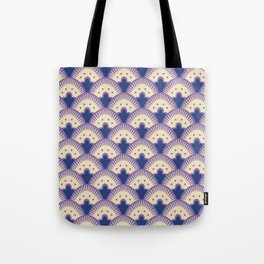Fan Pattern Lavender and Blue 991 Tote Bag