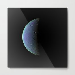 Saturns Moon Metal Print
