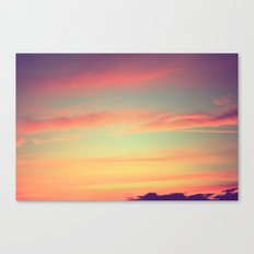 When Rainbows Go To Bed Canvas Print