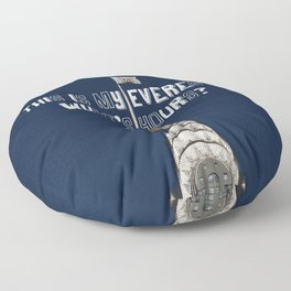 This Is MY Everest, What's Yours? (Raccoon Climbs Skyscraper) Floor Pillow