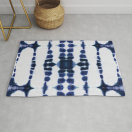 Boho Tie-Dye Knit Vertical Rug
