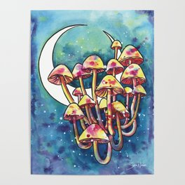Mushroom Patch Poster