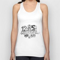 numbers Tank Tops featuring Numbers by Ilya kutoboy