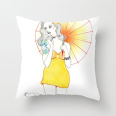 Pin-Up  Throw Pillow