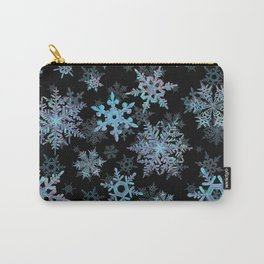 """""""Embroidered"""" Snowflakes Carry-All Pouch"""