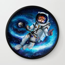 Space cat iPhone 4 5 6 7, ipod, ipad, pillow case and tshirt Wall Clock