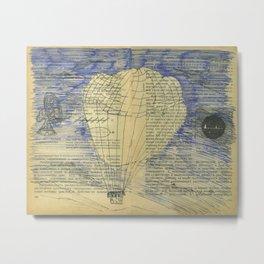 Balloon travel to Mysterious Island Metal Print