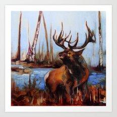 Tylers Elk Art Print