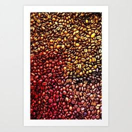 Multicolored Coffee Beans Art Print