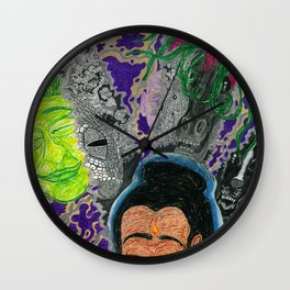 New Moon Meditation Wall Clock