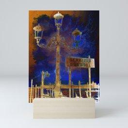 Venezia Servizio Gondole - SKETCH - ART Mini Art Print