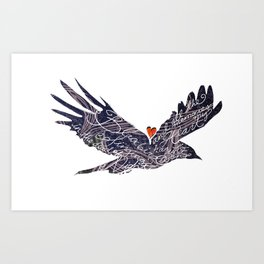 Blackbird singing in the dead of night, and all the memories my heart has for that song. Art Print