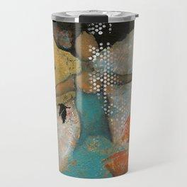 Floating. African American Art, Black Art, Women, Girls, Female Travel Mug