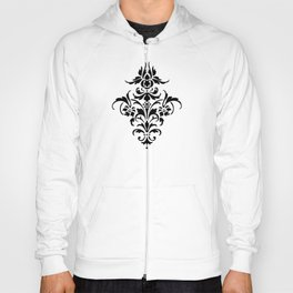 Damask Pattern | Black and White Hoody