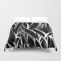 plant Duvet Covers featuring plant by Baptiste Riethmann