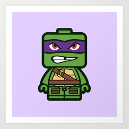 Chibi Donatello Ninja Turtle Art Print