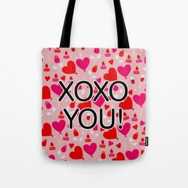 Valentine XOXO YOU Heart Pattern Tote Bag