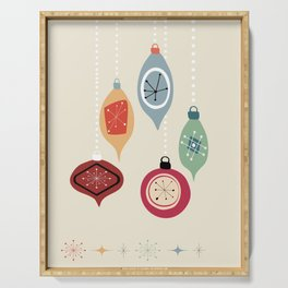 Retro Christmas Baubles Serving Tray