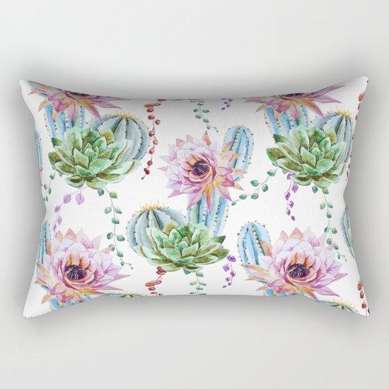 Cactus Pattern 08 Rectangular Pillow