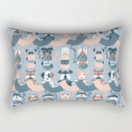 Knitting dog feelings I Rectangular Pillow