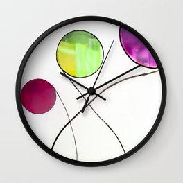 Colourful geometric design Wall Clock