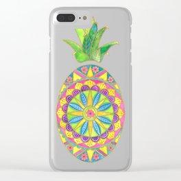 Pineapple Mandala Clear iPhone Case