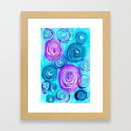 Rounds Blue and Purple Framed Art Print