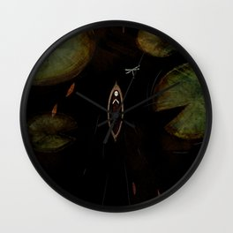 black lake Wall Clock