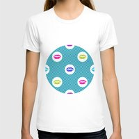 lipstick T-shirts featuring Bright lipstick by Claudia Owen