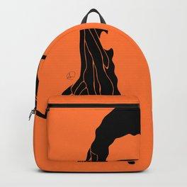 light orange Backpack