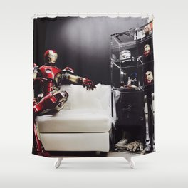Iron Man Cave Shower Curtain
