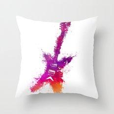 Electric guitar purple Throw Pillow