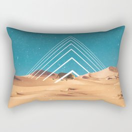 The Lion in the Desert Rectangular Pillow