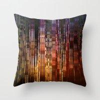 metropolis Throw Pillows featuring Metropolis by Angelo Cerantola