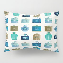 Flask Collection – Blue and Tan Palette Pillow Sham
