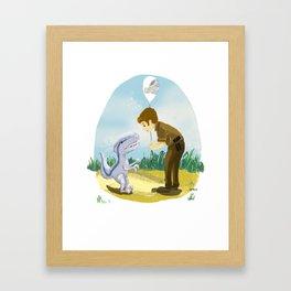 Little Blue with Owen Framed Art Print