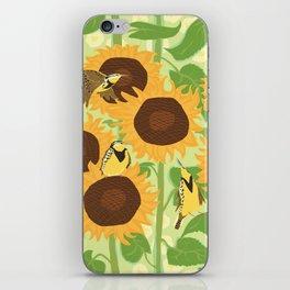 Sunbathing Meadowlarks iPhone Skin