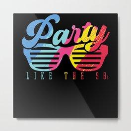 Retro Disco Dancer Modern Music Party Metal Print