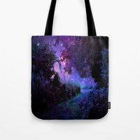 fantasy Tote Bags featuring Fantasy Path Purple by 2sweet4words Designs
