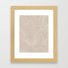 Geo Landscape - Tan Framed Art Print