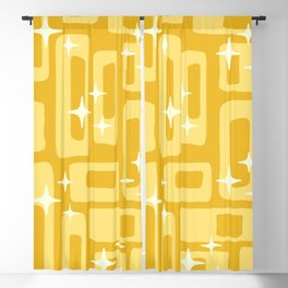 Retro Mid Century Modern Abstract Pattern 127 Yellow Blackout Curtain