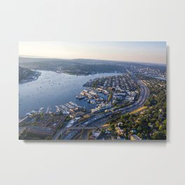Seattle, City with Love Metal Print