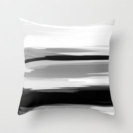 Soft Determination Black & White Throw Pillow