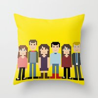 how i met your mother Throw Pillows featuring How I Met Your Mother by Evelyn Gonzalez