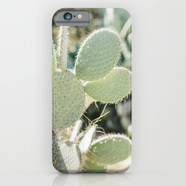 Prickly Pear Cactus Mickey's Ears. Minimalistic print - fine art photography iPhone Case