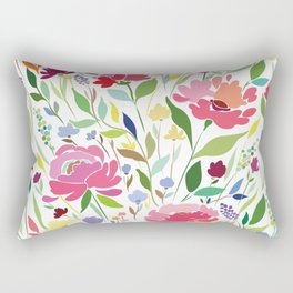 Rock in Flowers Rectangular Pillow